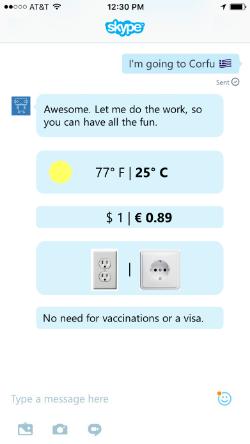 Lewis Travel Concierge for Skype