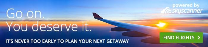 Groupon flight search powered by Skyscanner