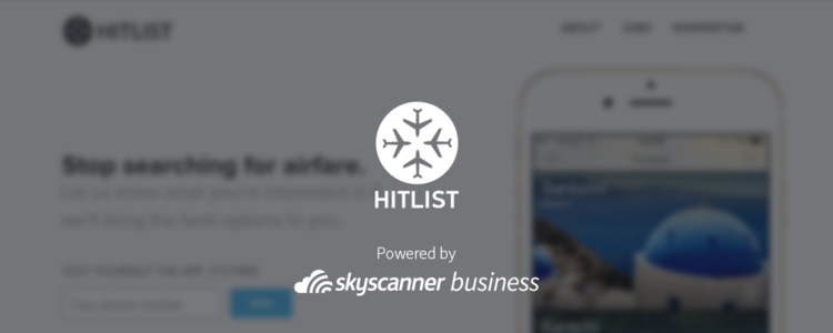 Hitlist and Skyscanner for Business Logos