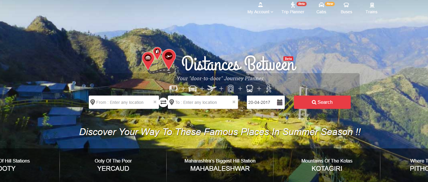 Distances Between Website