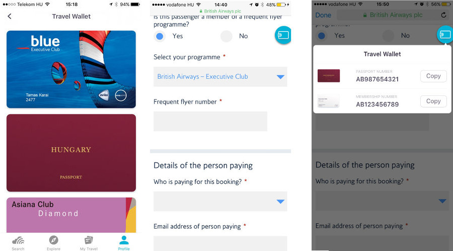 Travel Wallet at Skyscanner