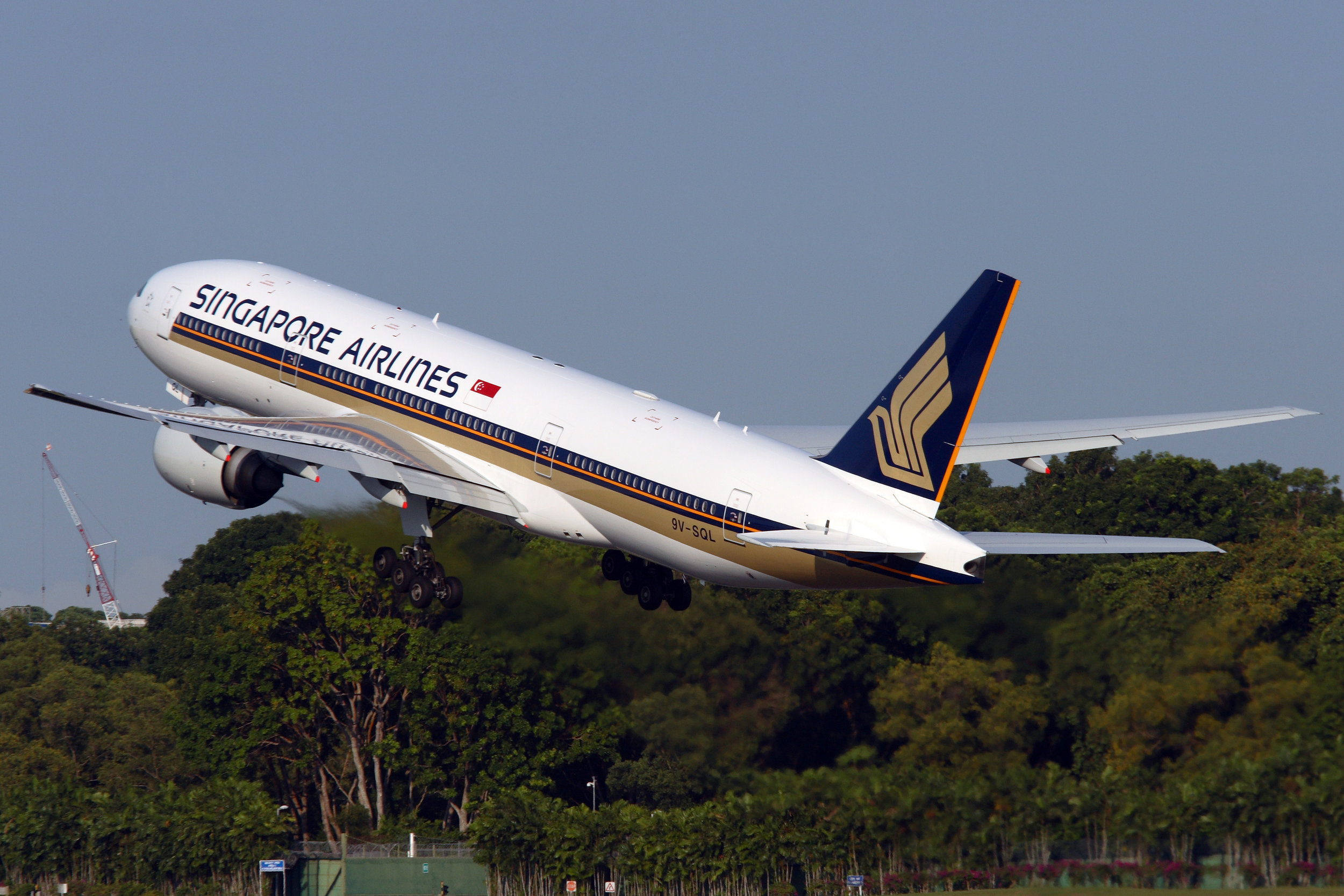 Boeing 777-200 in Singapore Airlines