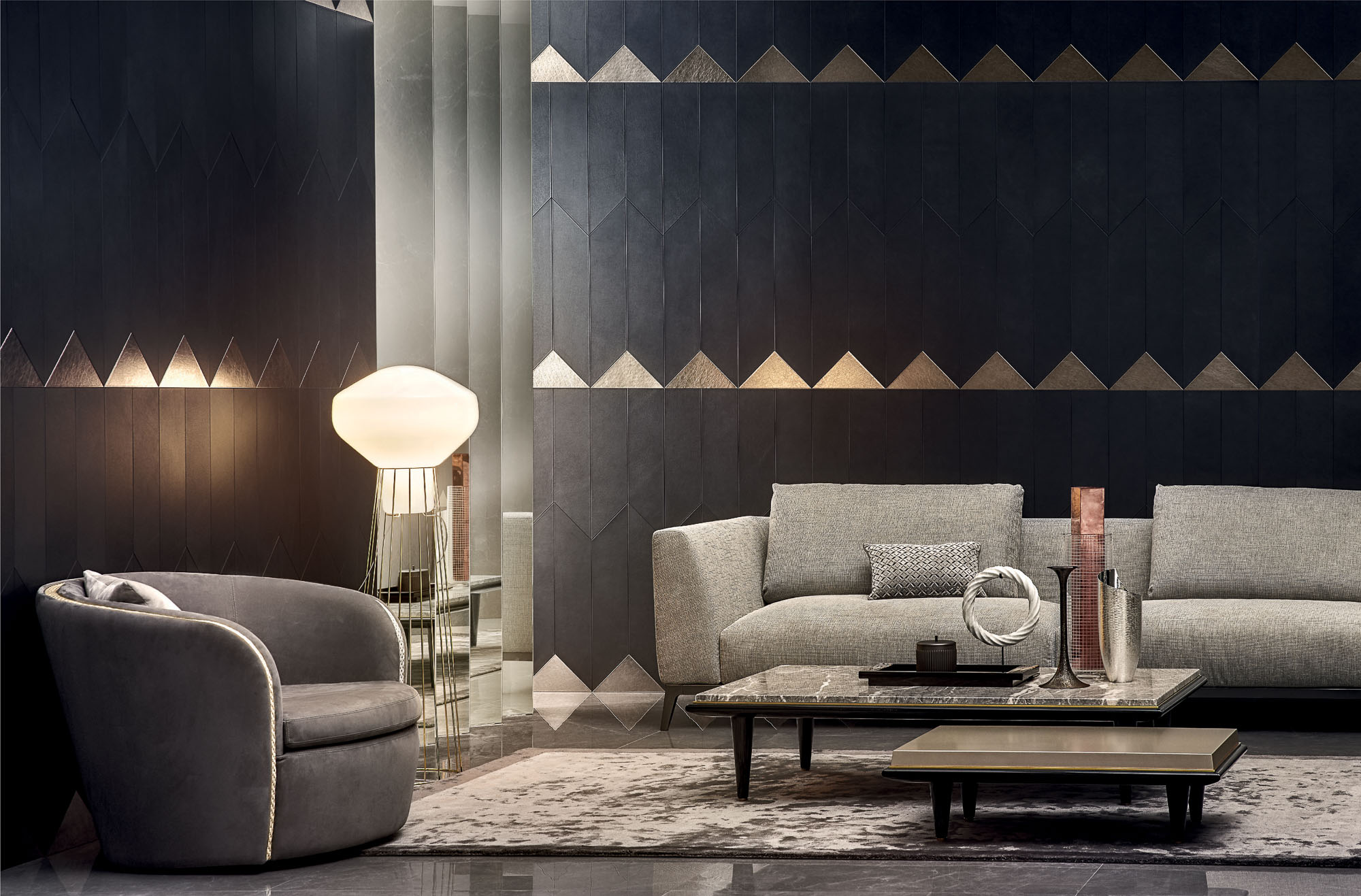 Studioart_Continental in Polis dark grey, Tesoro rame designed by Grove Studio.jpg