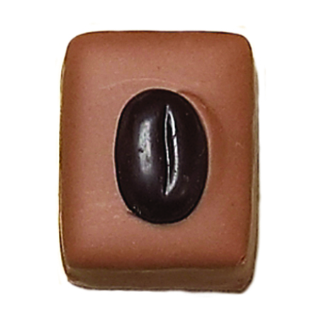 "JAVA  Marzipan of almonds with dark ""Java"" coffee bean"