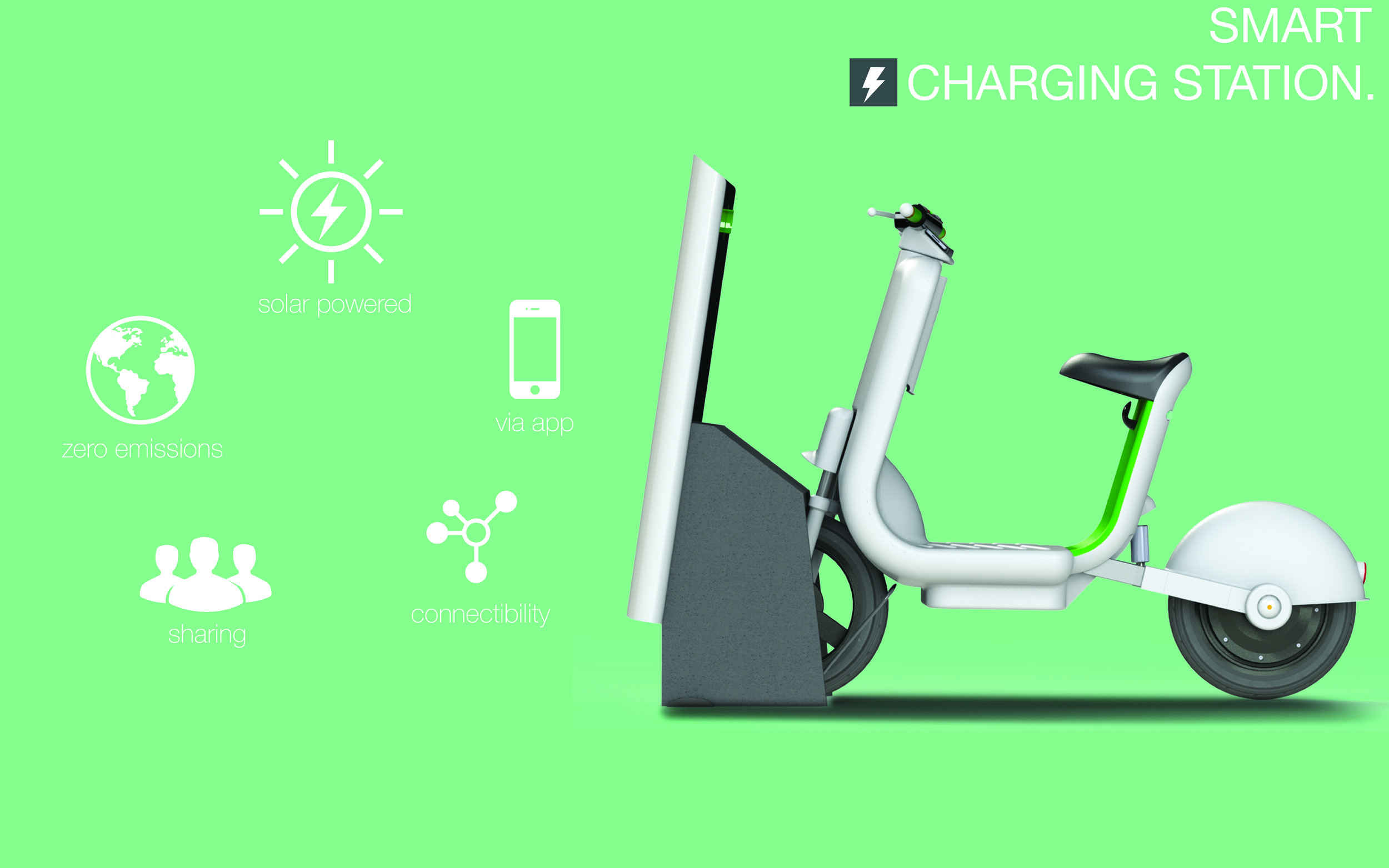 Electric scooter charging station