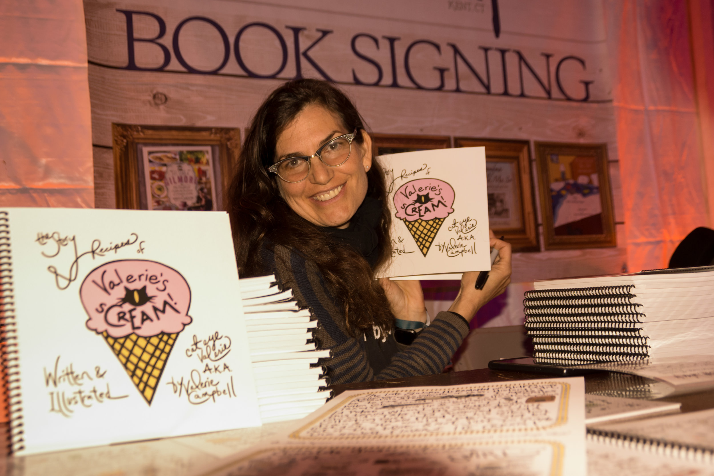 Valerie Campbell - GILMORE GIRLS COSTUMER VALERIE NOT ONLY KNOWS EVERY DETAIL OF JUST ABOUT EVERY ITEM & ACCESSORY ON SET, SHE IS AN INSANELY TALENTED ICE CREAM MAKER & PICTORIAL ICE CREAM COOKBOOK AUTHOR!