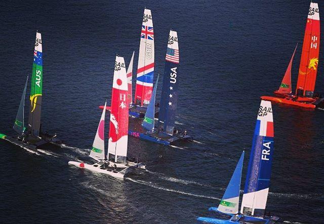 GP Sail Race 2019. . . . #boat #boats #sail #sailing #sport #competition #sfo #sanfrancisco #california #bayarea #france #ocean #wind #team #catamaran