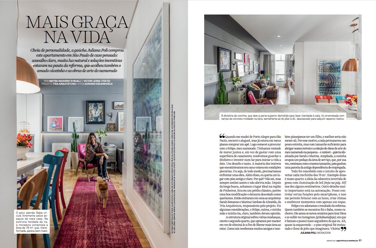 Revista Arquitetura e Constru��o MAIS GRA�A NA VIDA Adriano Escanhuela Fotografias