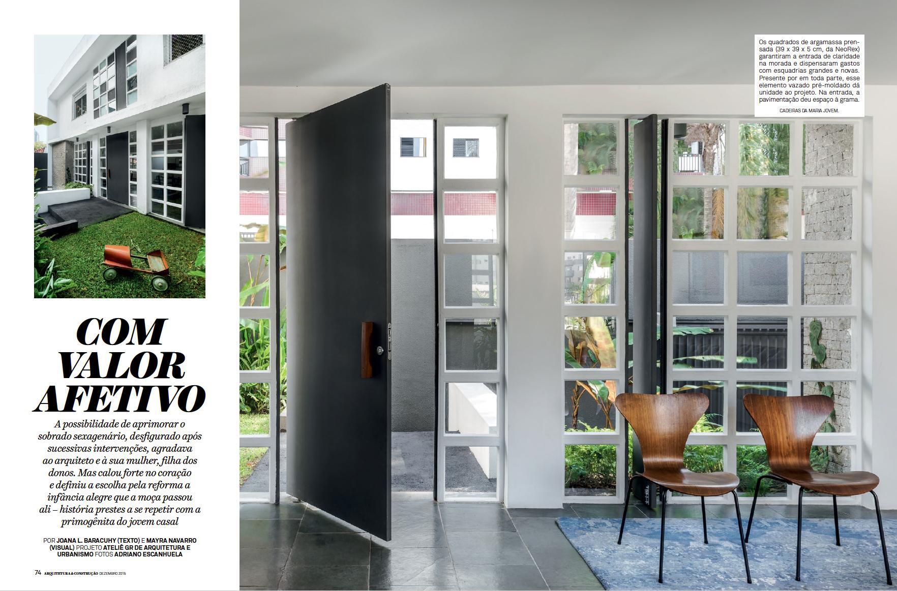Revista Arquitetura e Constru��o COM VALOR AFETIVO Adriano Escanhuela Fotografias