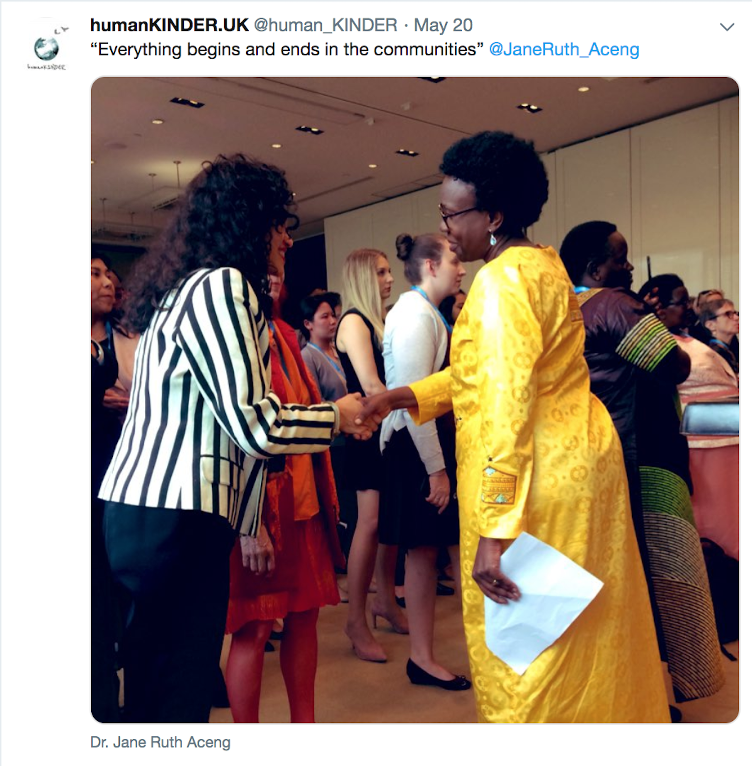 Financing sustainable community health for all: the importance of Women Leaders, WHA72, Geneva