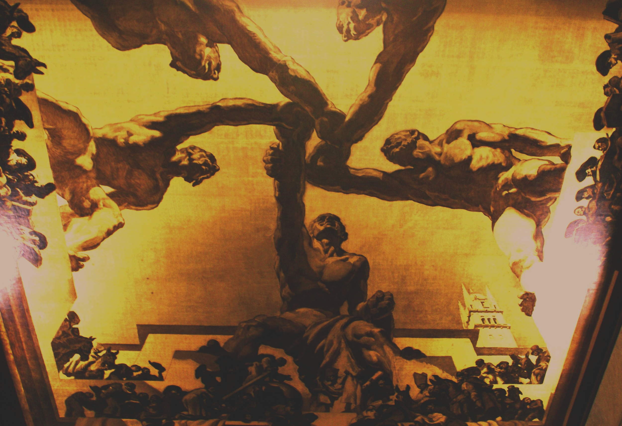 Mural by Catalan artist José Maria Sert, League of Nations Council Chamber