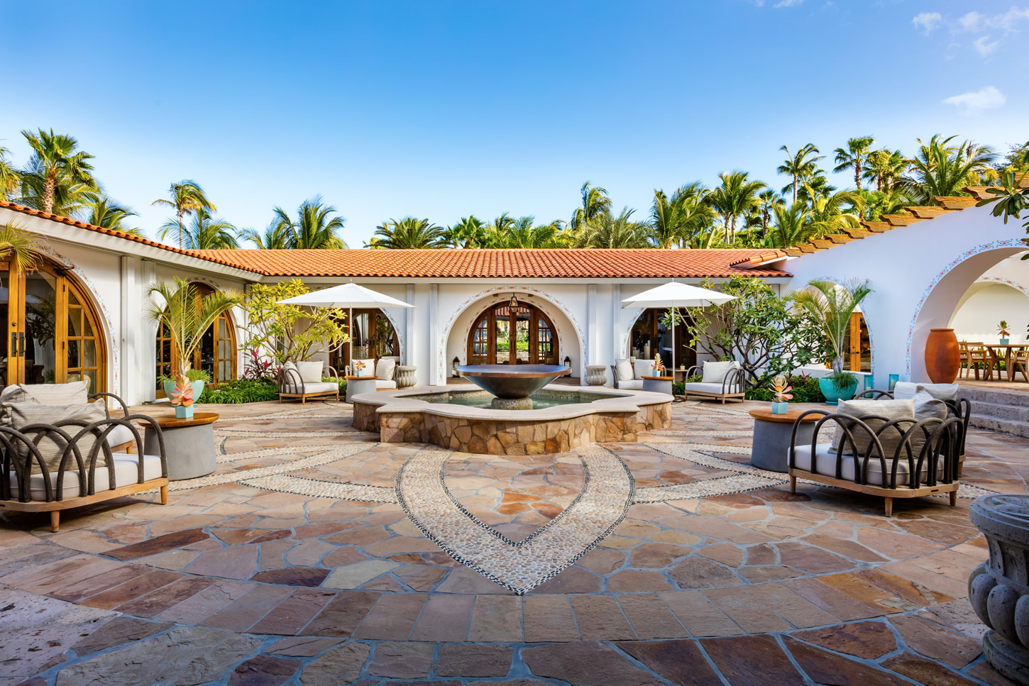 One&Only Palmilla Spa Courtyard