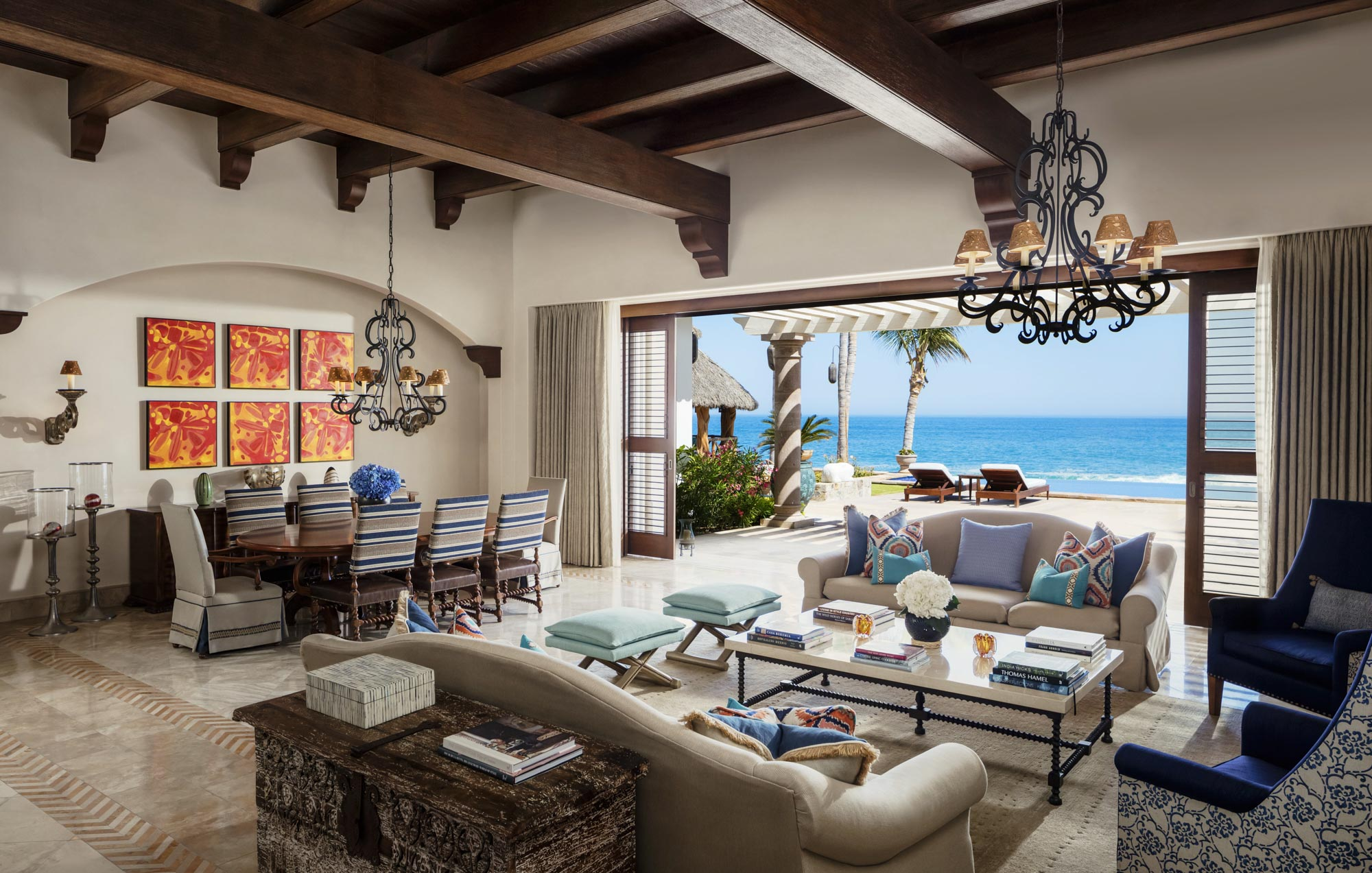 One&Only Palmilla Villa Cortez Living Room