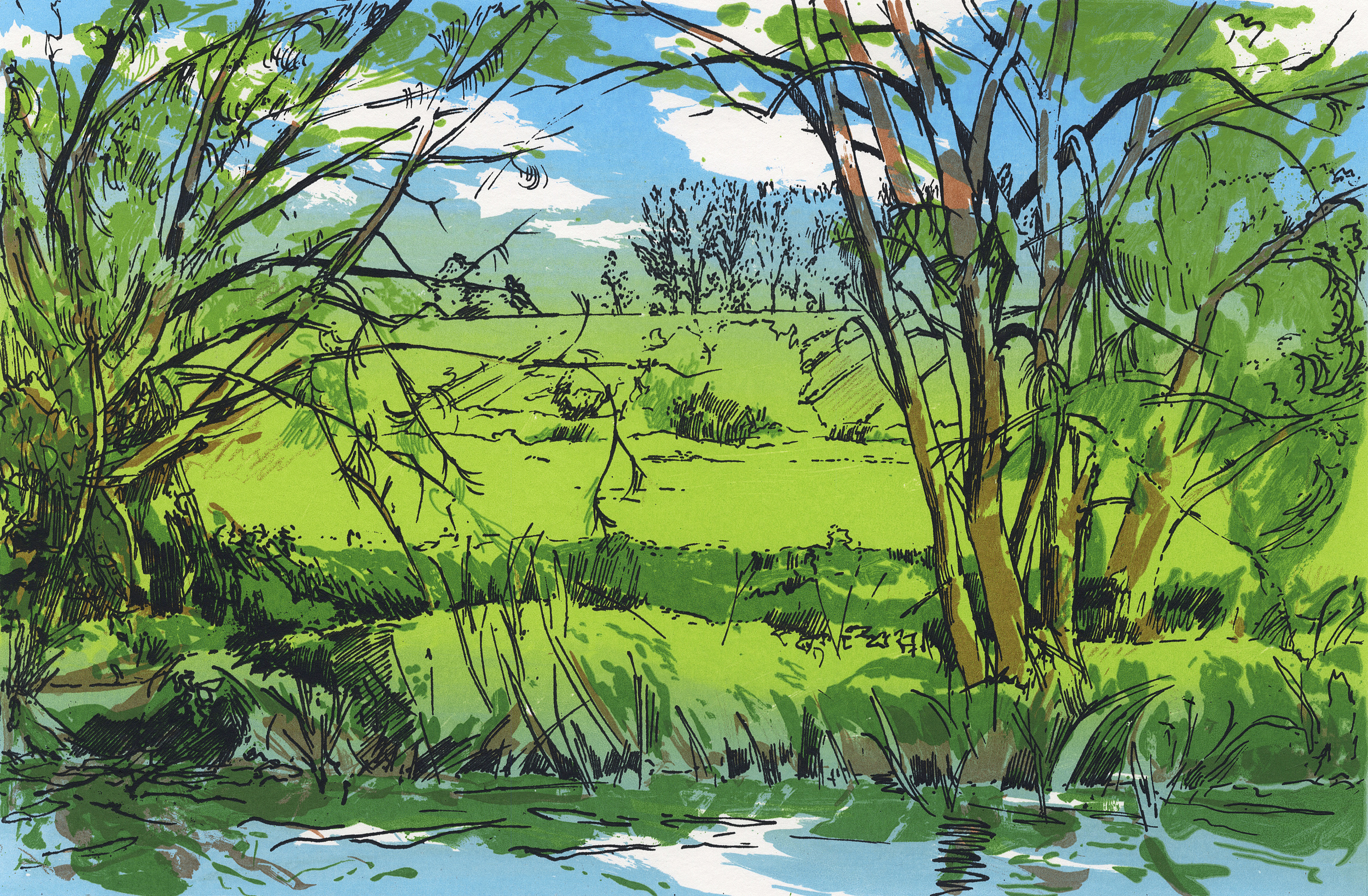 Avon Riverbank - 10x15""