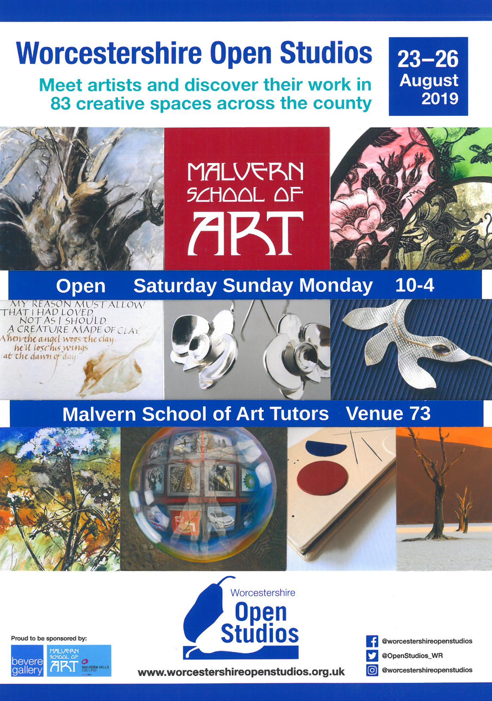 Exhibition - Come and see a wide variety of work by the tutors of Malvern School of Art at Malvern Hills College over the August bank holiday weekend.We are open Saturday to Monday only 10am-4pm.