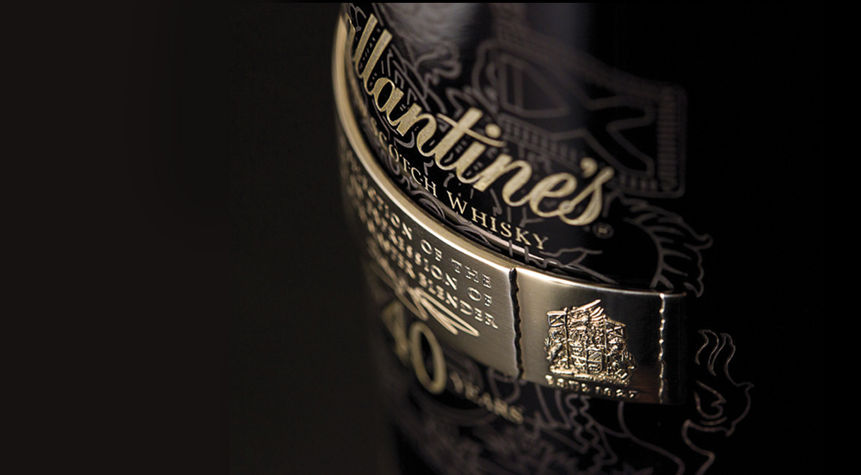 Ballantine's aged 40 year Blended Scotch Whisky