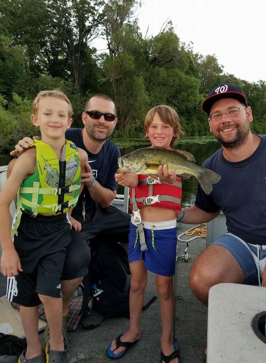 Fishing at Heartland Hockey Camp