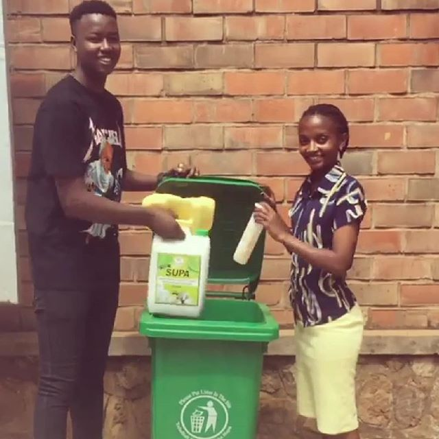 There's a new recycle bin at @kokoclubkigali ! Bring your #2 plastics by this weekend #gogreen #plasticfreejuly #Kigali #Rwanda #recycle