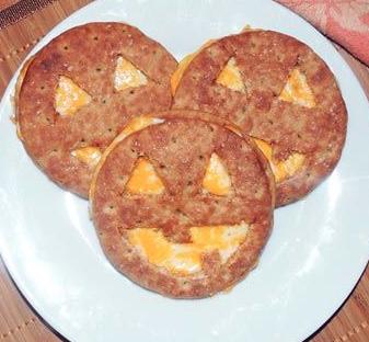 Jack O Lantern Sandwiches!