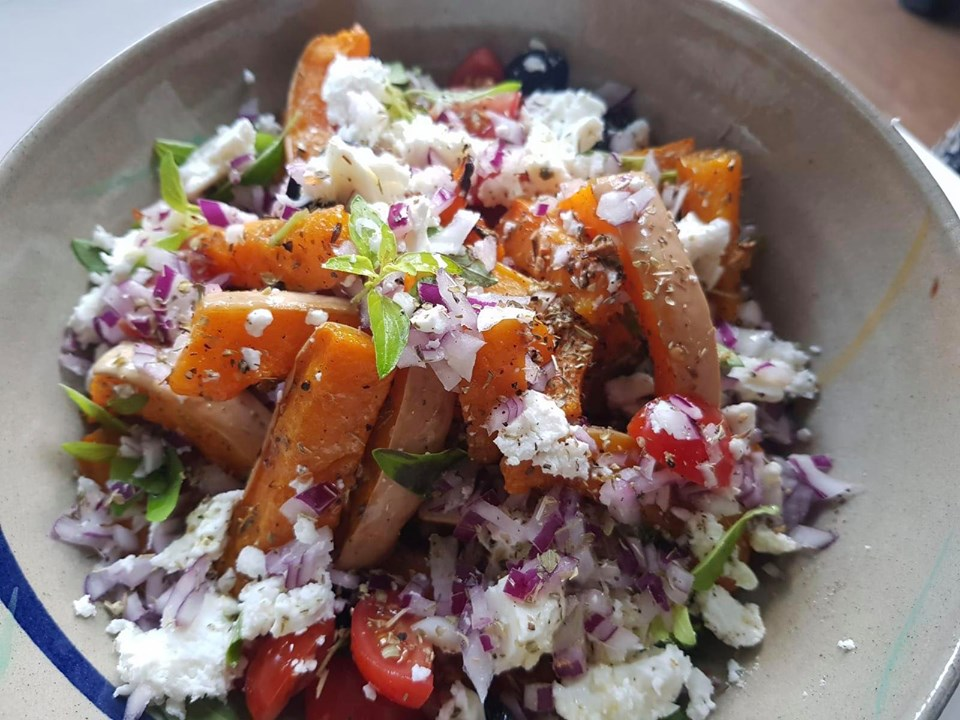 Gorgeous flavours combined make this simple Greek Butternut Salad a real winner!