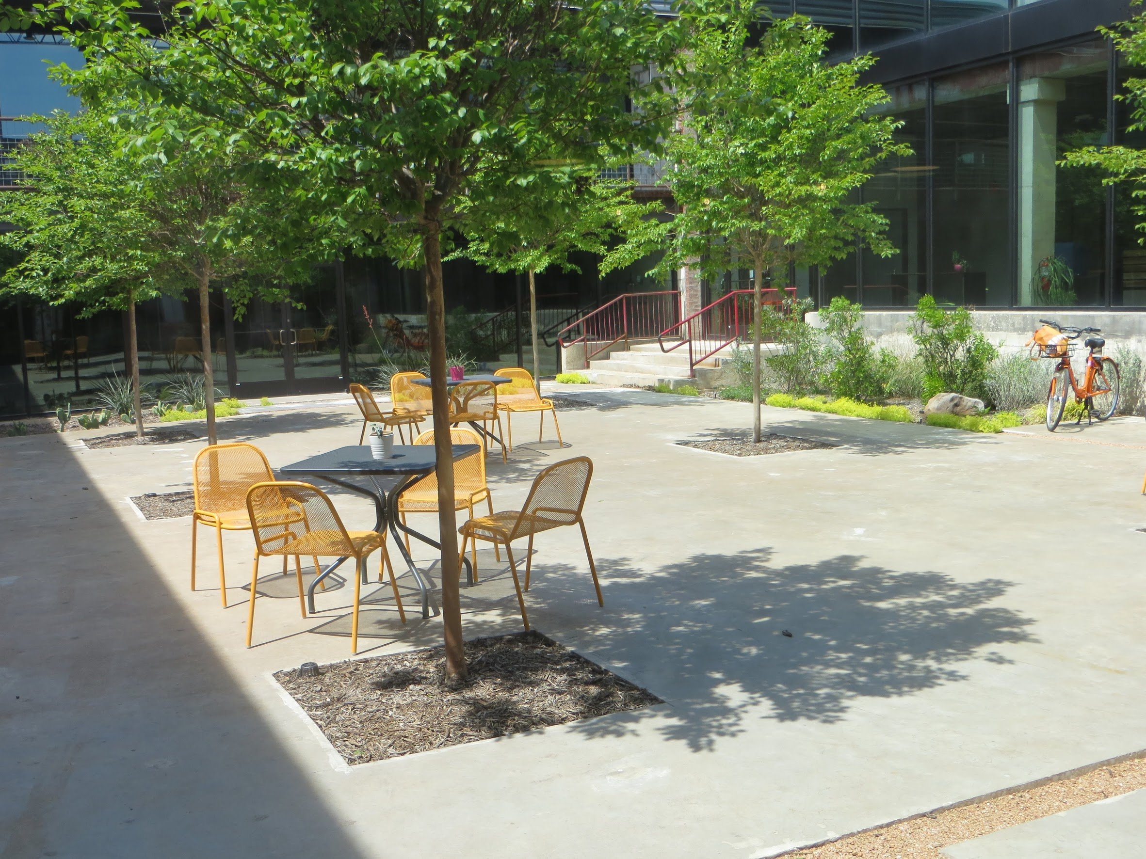A beautiful courtyard for working and getting our much needed Vitamin D.
