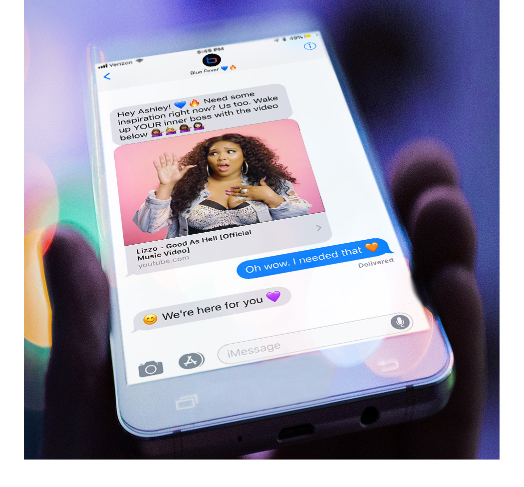 - Having a day? We get it. Let Blue Fever text you videos that will make you laugh,cry and be your best self.We'll help you through the day with our curated videos just for you.Slay the day with your BFF in your pocket. 💙🔥