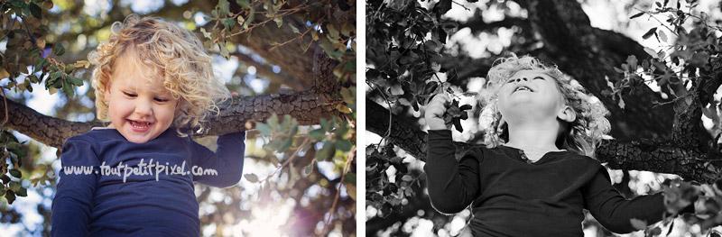 Enfant dans un arbre