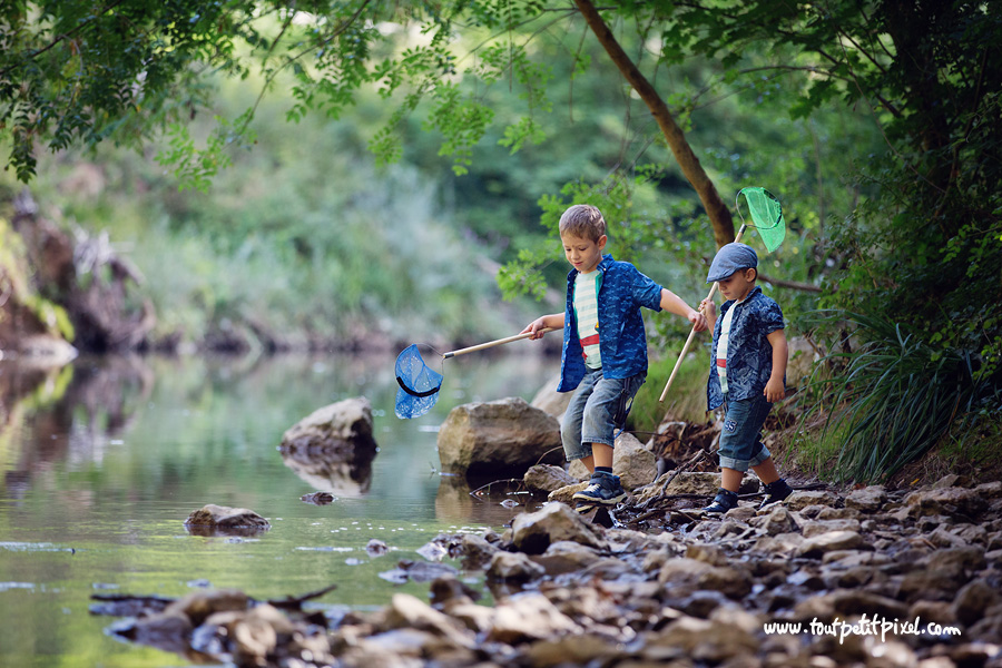 photographe enfants lifestyle rivière