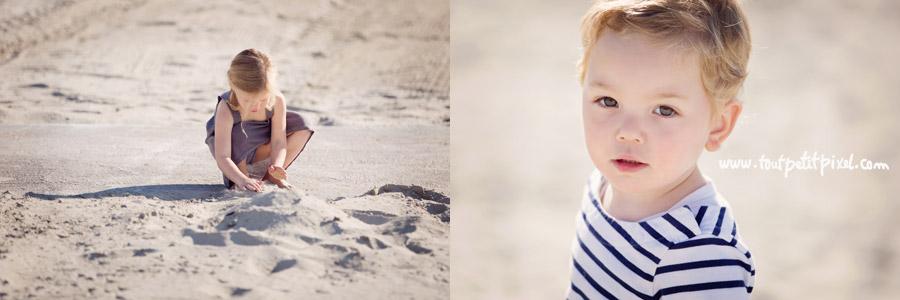 photos d'enfants à la plage