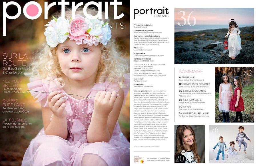 Lisa Tichané - Magazine Portrait d'Enfants