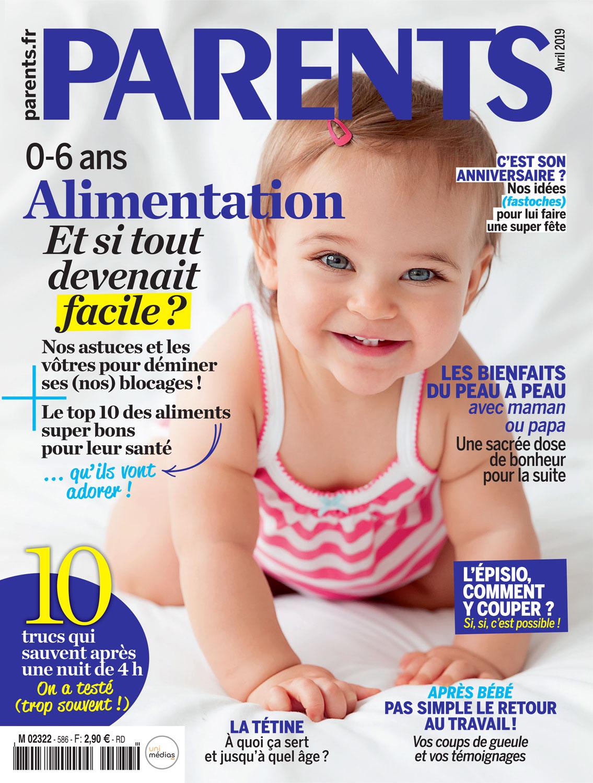 Bébé qui sourit en couverture du magazine Parents par Tout Petit Pixel, photographe éditorial bébé