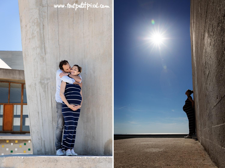 Séance photo grossesse originale à Marseille par Tout Petit Pixel, photographe enfant et famille lifestyle