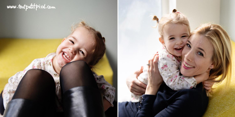 Photos mère fille à domicile par Tout Petit Pixel, photographe famille lifestyle à Marseille