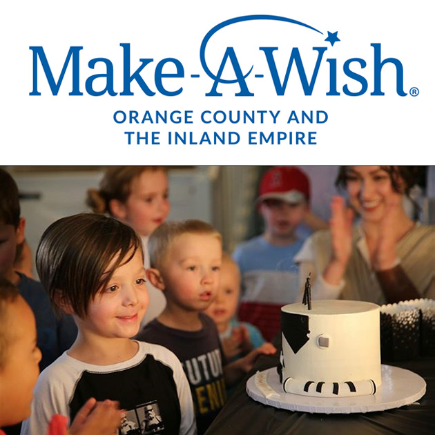 'Bake me a wish' - I'm very excited to be teaming up with the Make A Wish Foundation of Orange County / Inland Empire once a month to create a