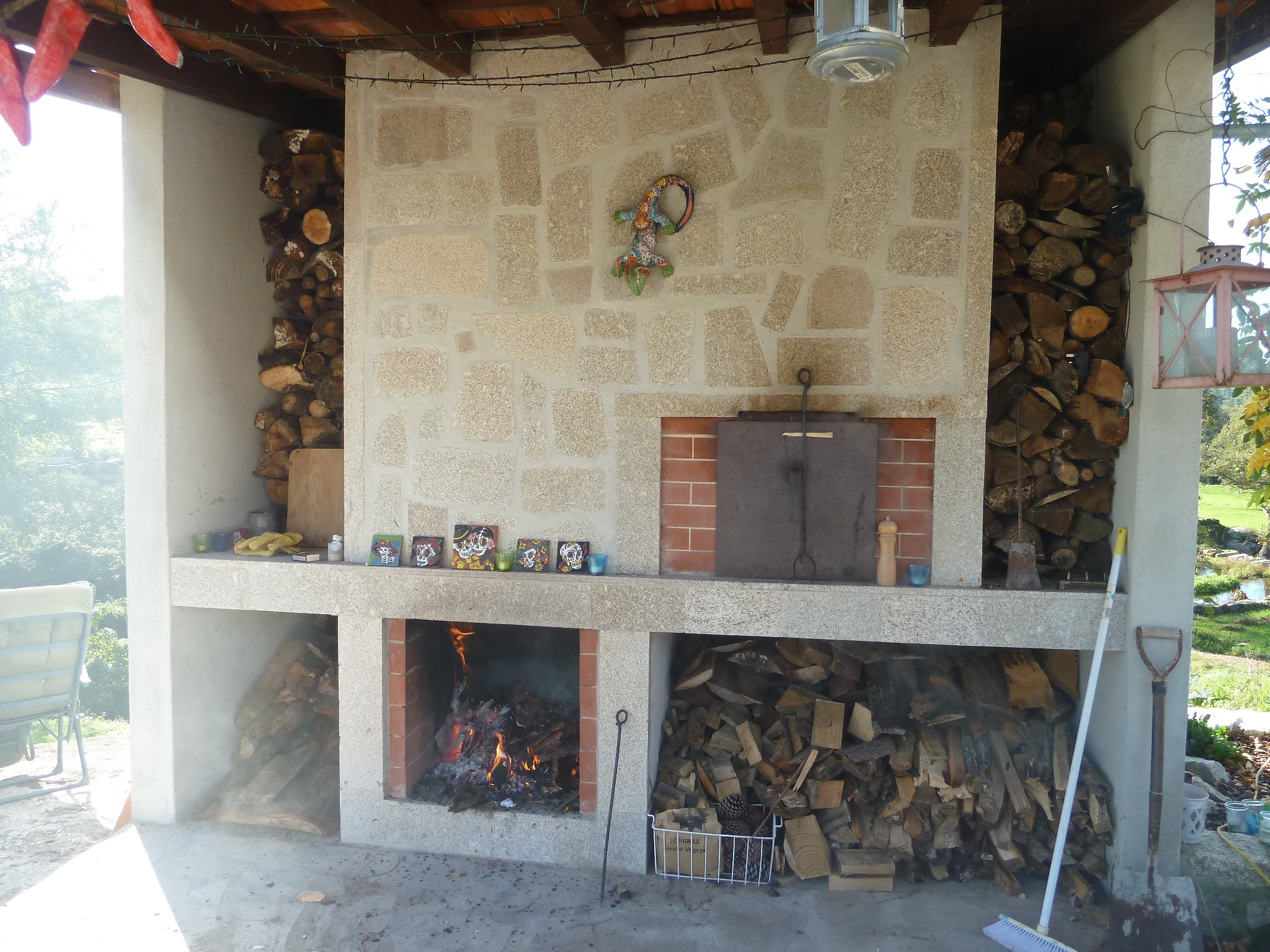 Our wonderful outdoor oven and grill
