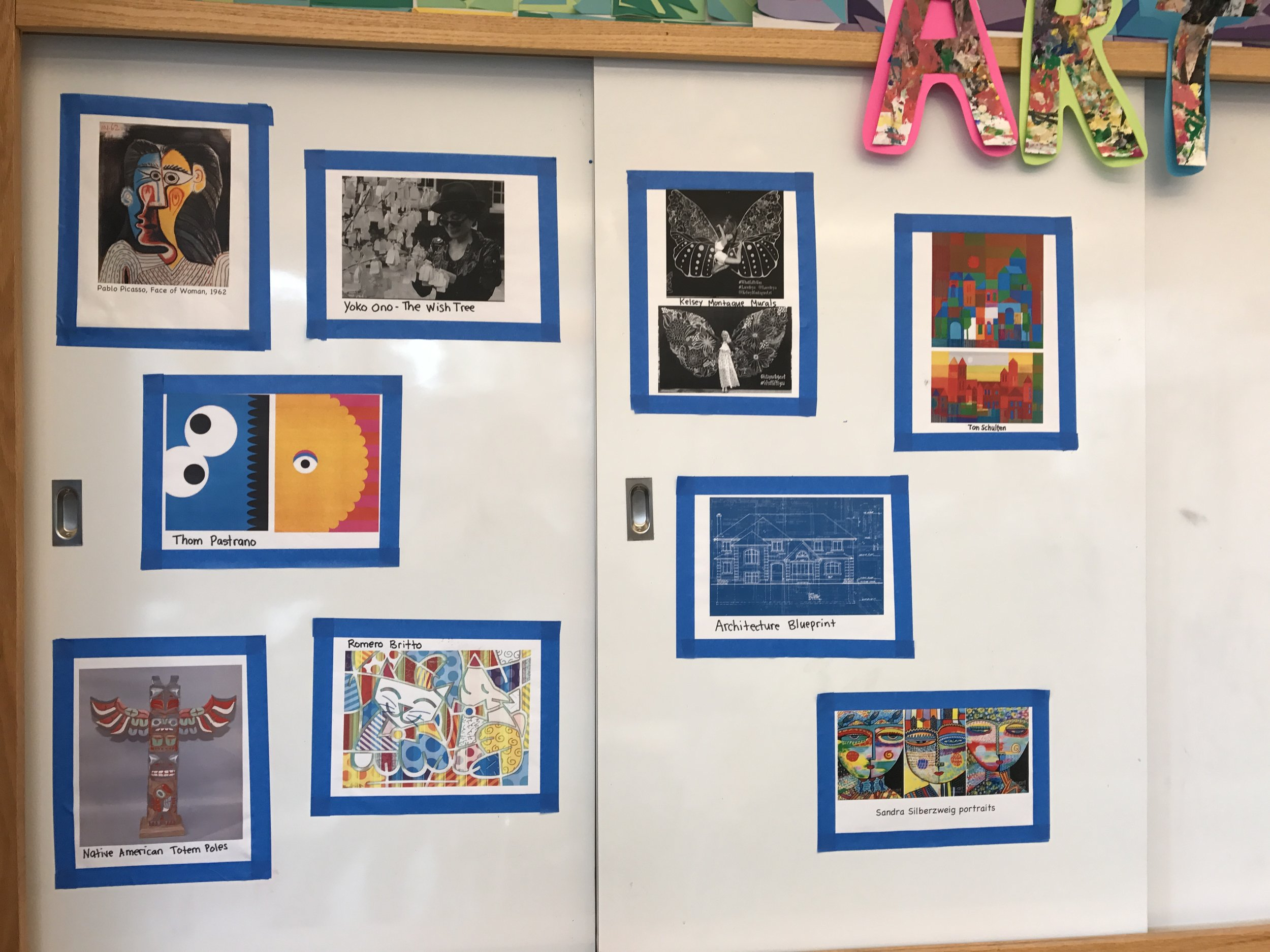 We use the Art Inspiration Board to post inspiration images used throughout the year.
