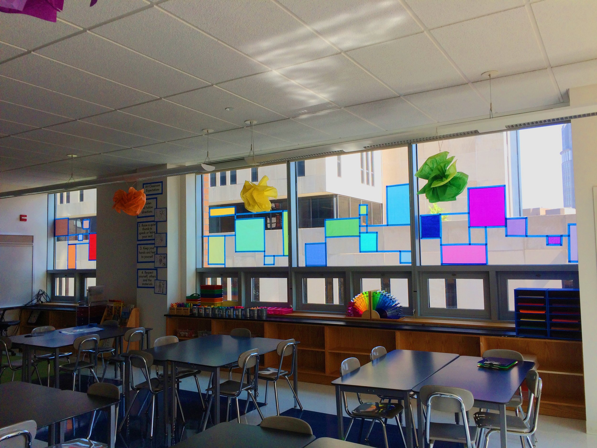Our Mondrian windows (sometimes you just see something neat on the internet and you have to emulate it). ;)