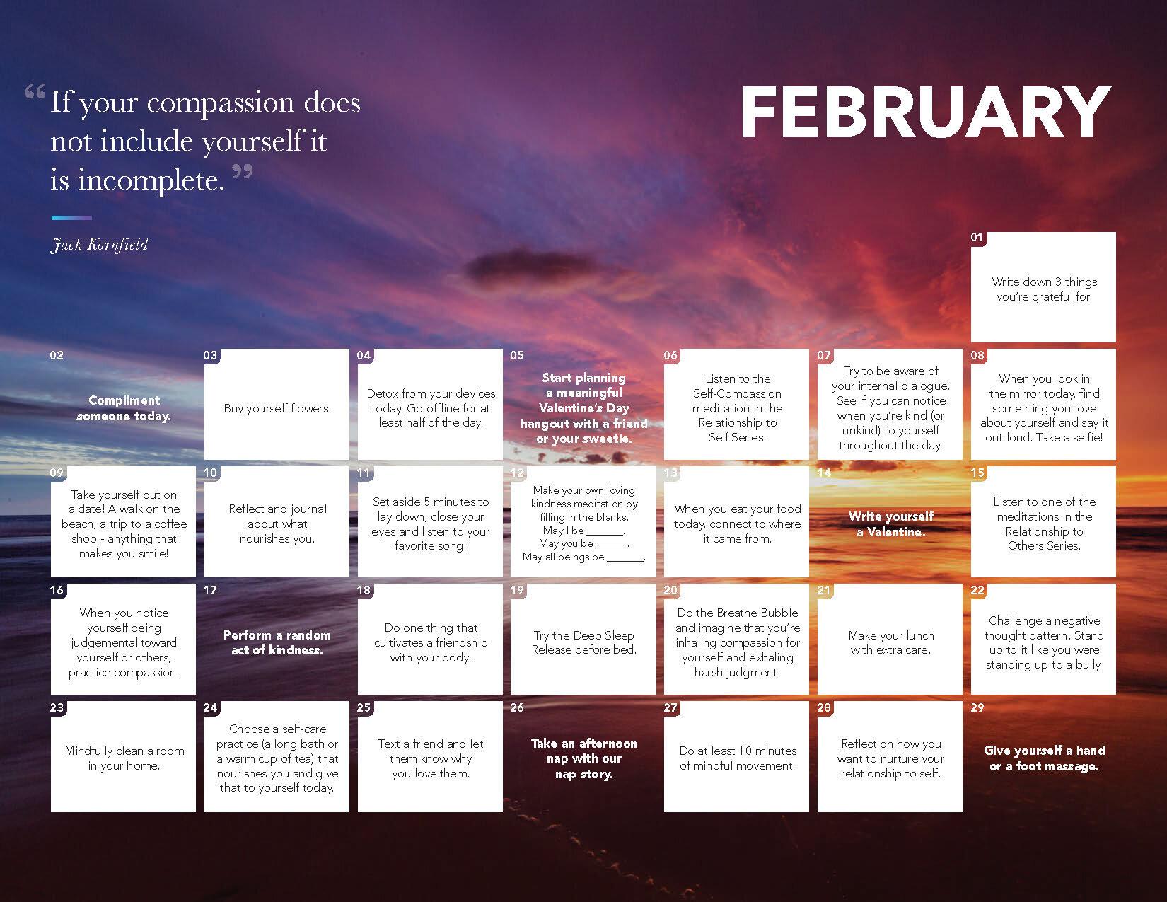 2020 Daily Calm Calendar Calm Blog