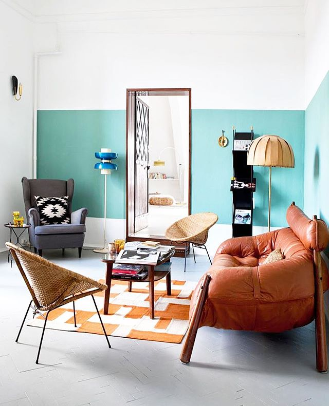 😍#inspiration #ambiance #home #office #decoration #vintage #chine #brocante #blue #80s #eighties #melange #danois #style #mobilier #fauteuil #canapé #table
