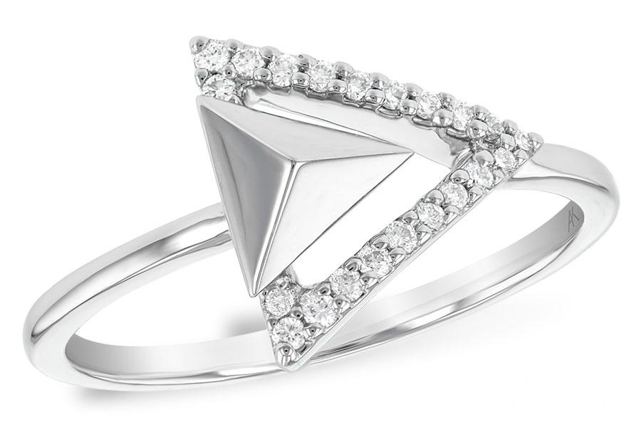 14k Gold Geometric Diamond Ring M B