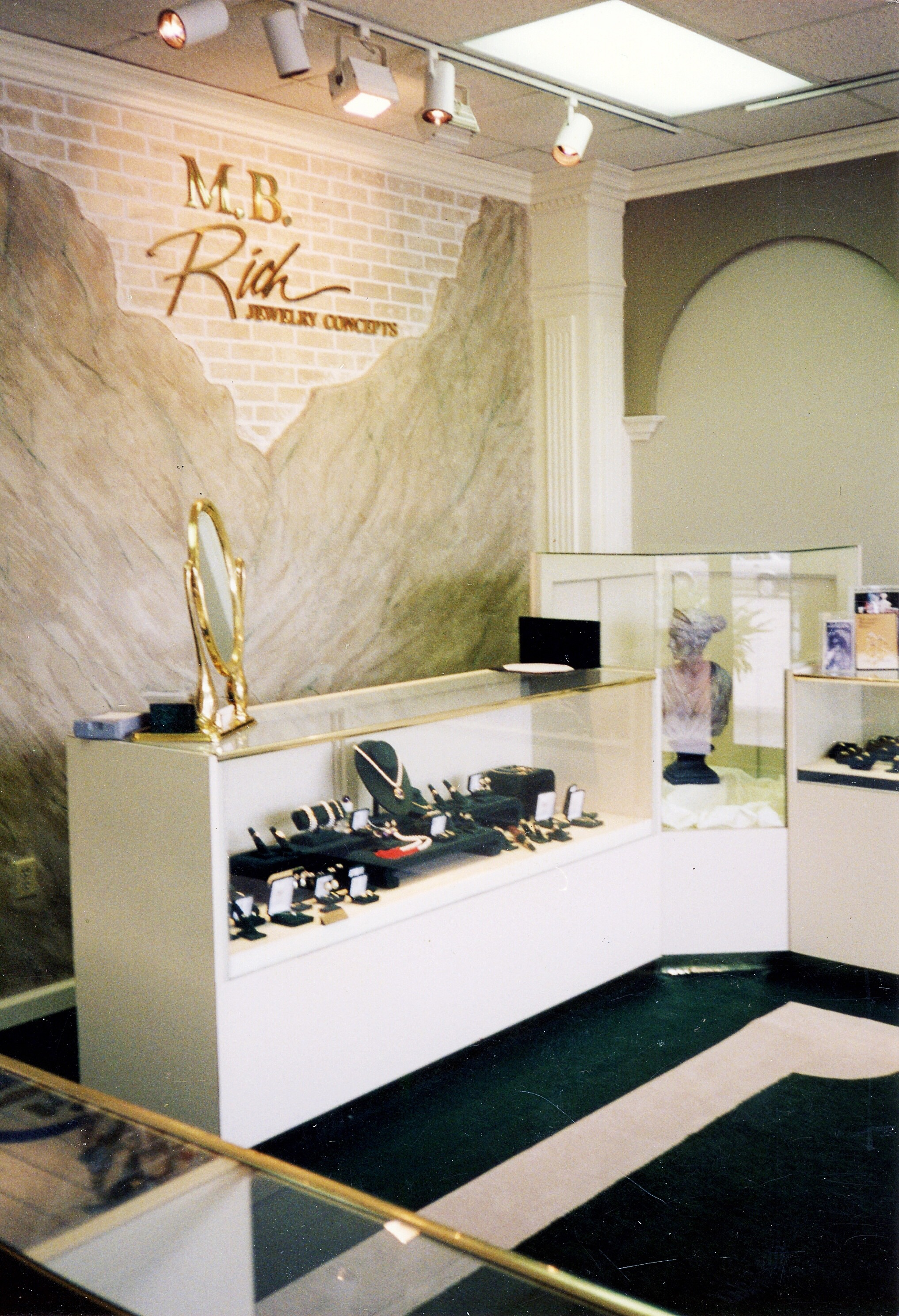 The first and original brick and mortar store for M. B. Rich Jewelry Concepts. -