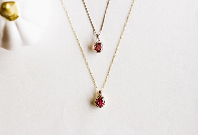 Get your PINK on for October as it's the National Breast Cancer Awareness month! 🚺 Head over to our Facebook (link in bio) to donate to this cause!  Pictured are two of our pink semi-precious gemstone necklaces! ~ The white gold setting is holding an oval pink tourmaline surrounded by round diamonds. ~ The yellow gold setting is holding an oval rubilite tourmaline surrounded by round garnets! Both absolutely beautiful!! Which would you choose? ✨  #breastcancerawarenessmonth #october #breastcancer #wearpink #getyourpinkon #lakecharles #finejewelry #pinktourmaline #rubilite #garnet #diamonds #donatenow #pinknecklace #showyoursupport #yellowgold #whitegold #thatlacommunity #supportlocal #beatcancer #love