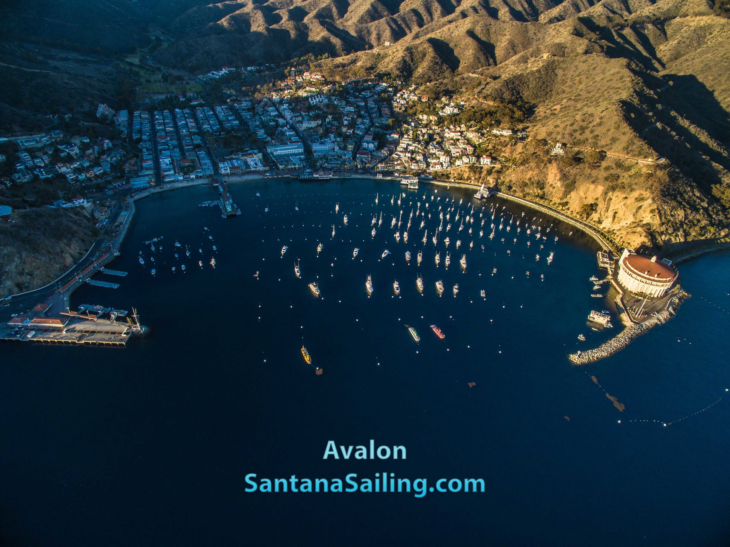 Avalon when we were sailing to catalina