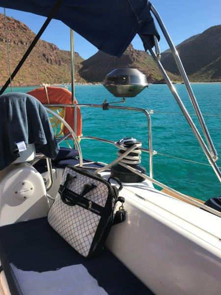 My Santana Mariners Bag at the Candalero anchorage on Espiritu Santo