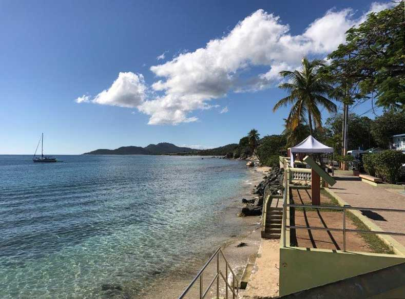 The Esperanza waterfront, on the Island of Vieques in the Spanish Virgin Islands