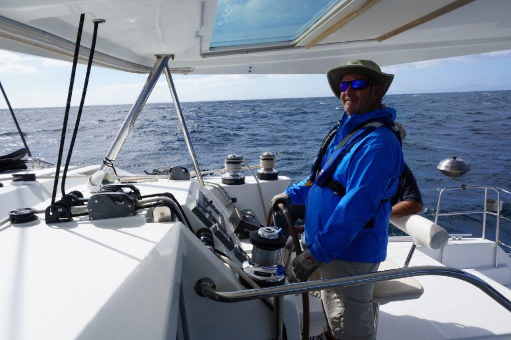 Catamaran on the Sea of Cortez