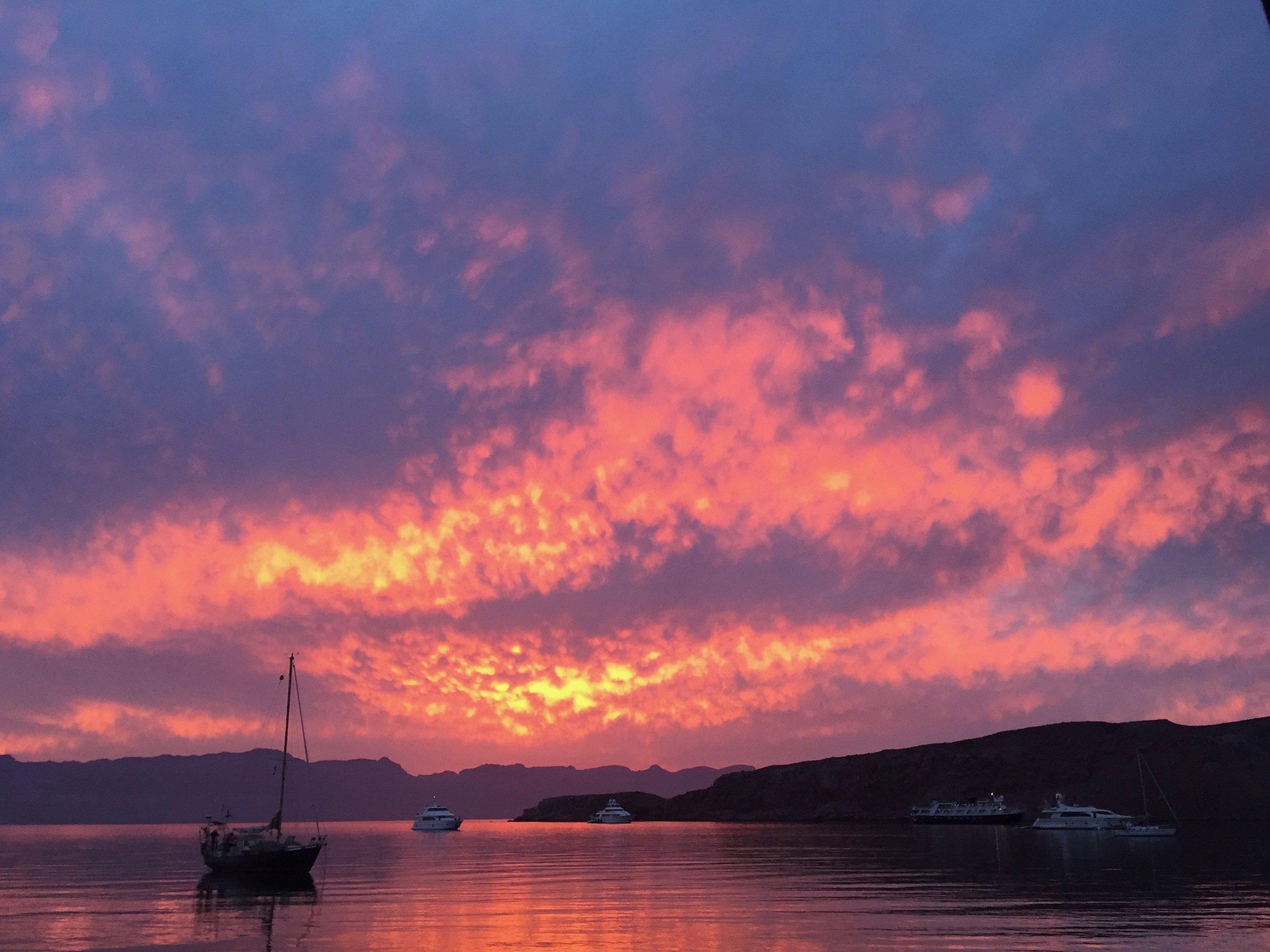 Amazing sunsets at Isla San Francisco
