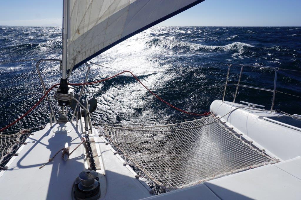 Windy day on the Catamaran