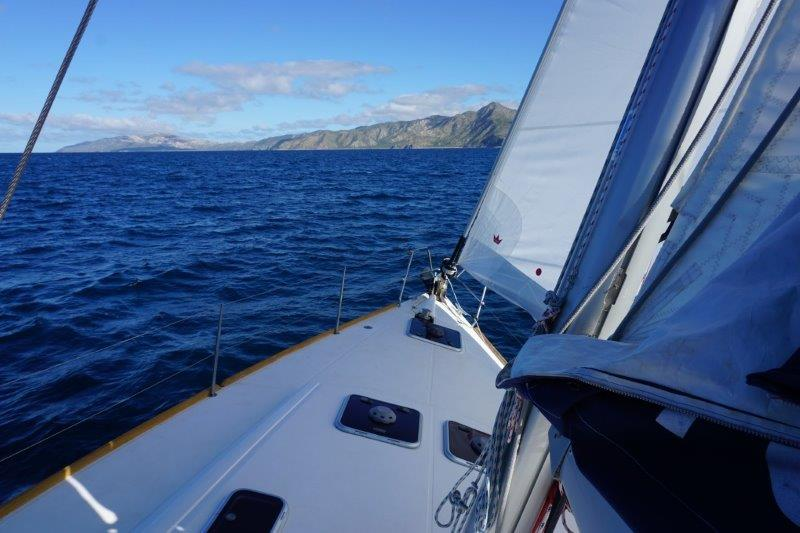 Windward beat up the San Jose Channel