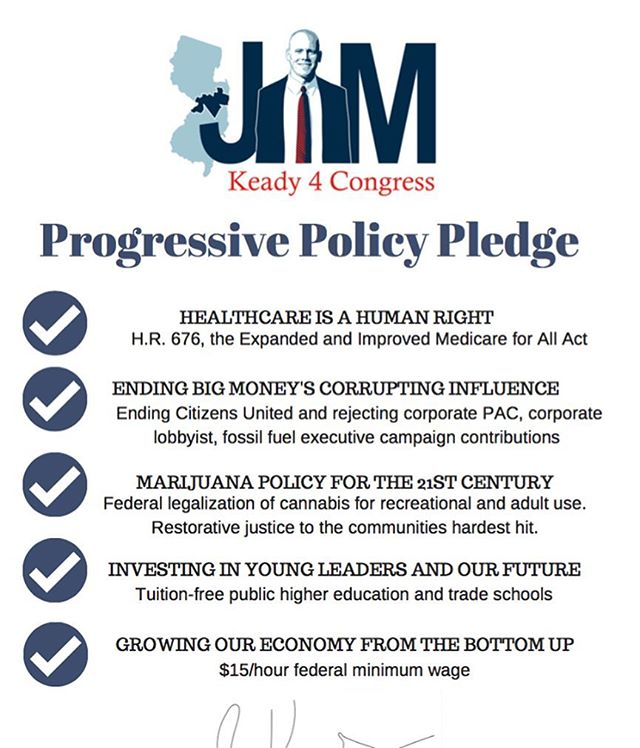 If you live in NJs 4th district, which includes Belmar, Wall, Bradley, Neptune, Point Pleasant and Red Bank, you have a choice on June 5th. Stand with Jim Keady to send a real progressive to represent you in DC. #nj #ourrevolution